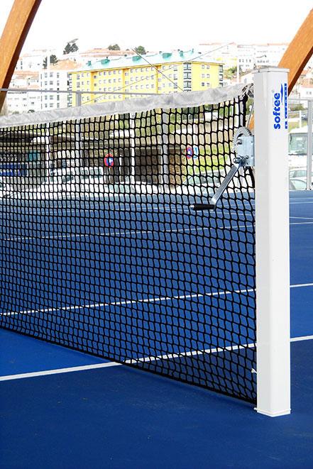 Poste de aluminio tenis do Saar
