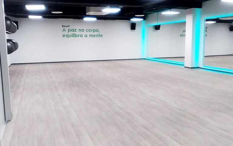 Pavimento suelo gimnasio PVC